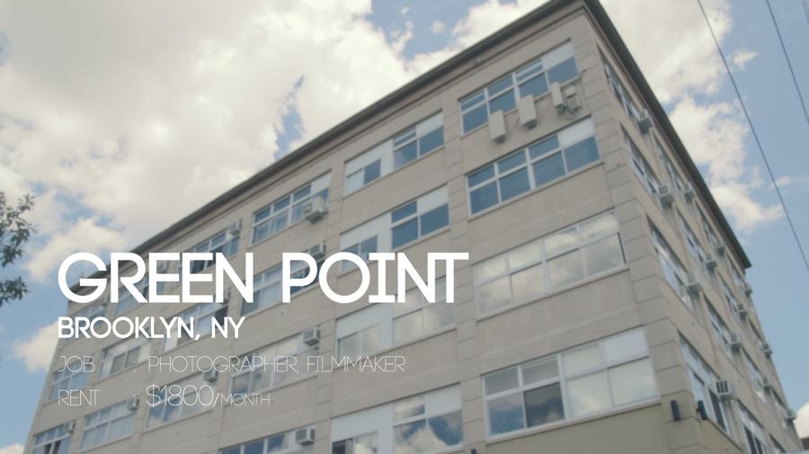 オシャレな街Brooklyn, Green pointのスタイリッシュなスタジオ兼、住居!