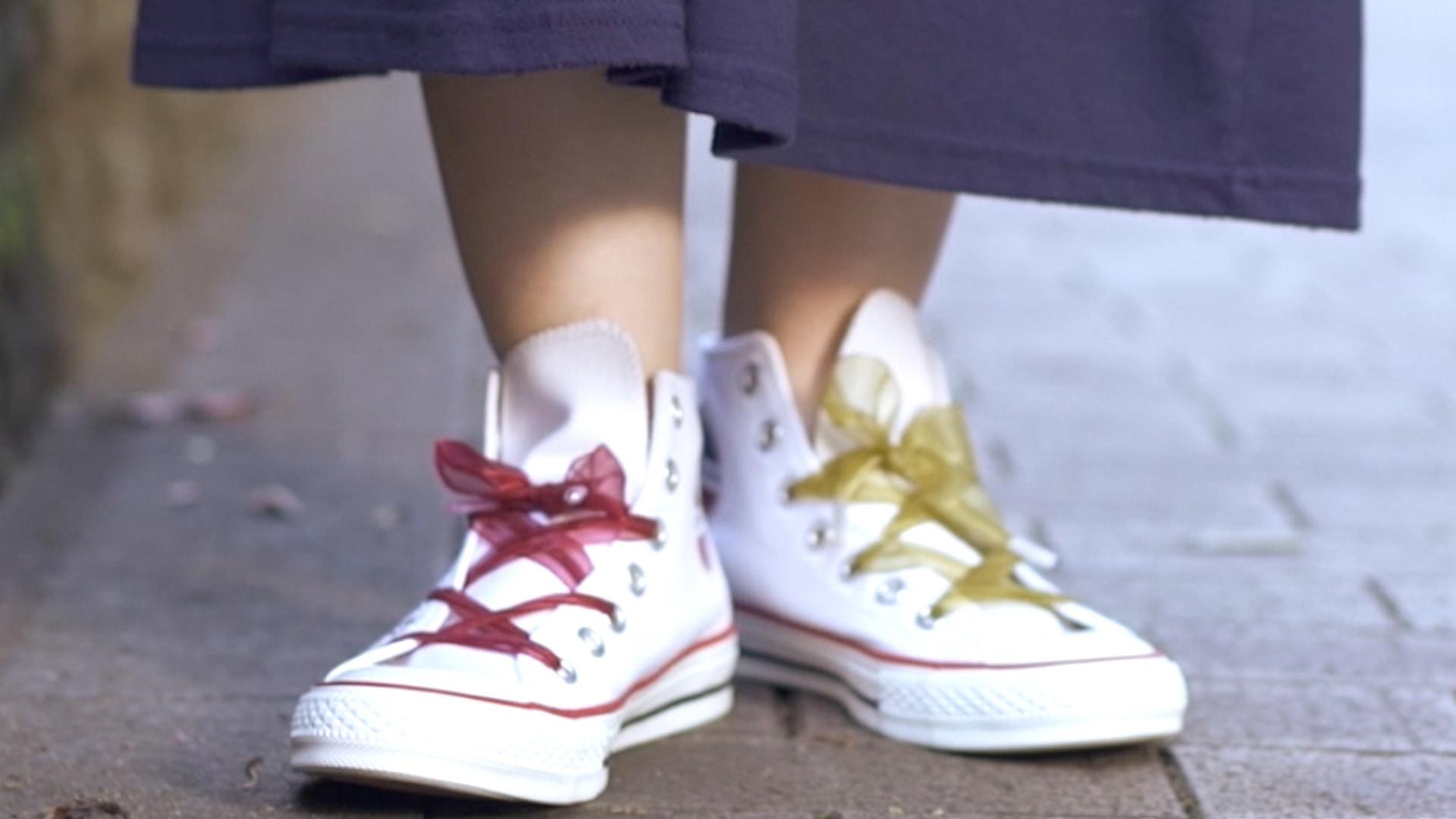 【DIY】靴紐を可愛くアレンジ!リボンシューレース