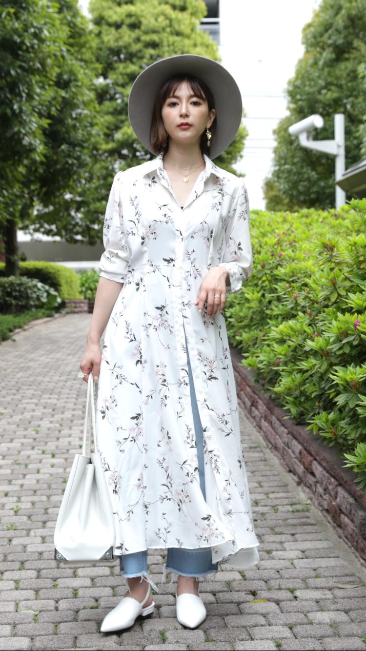 仲村美香さんシャツコーディネート#2