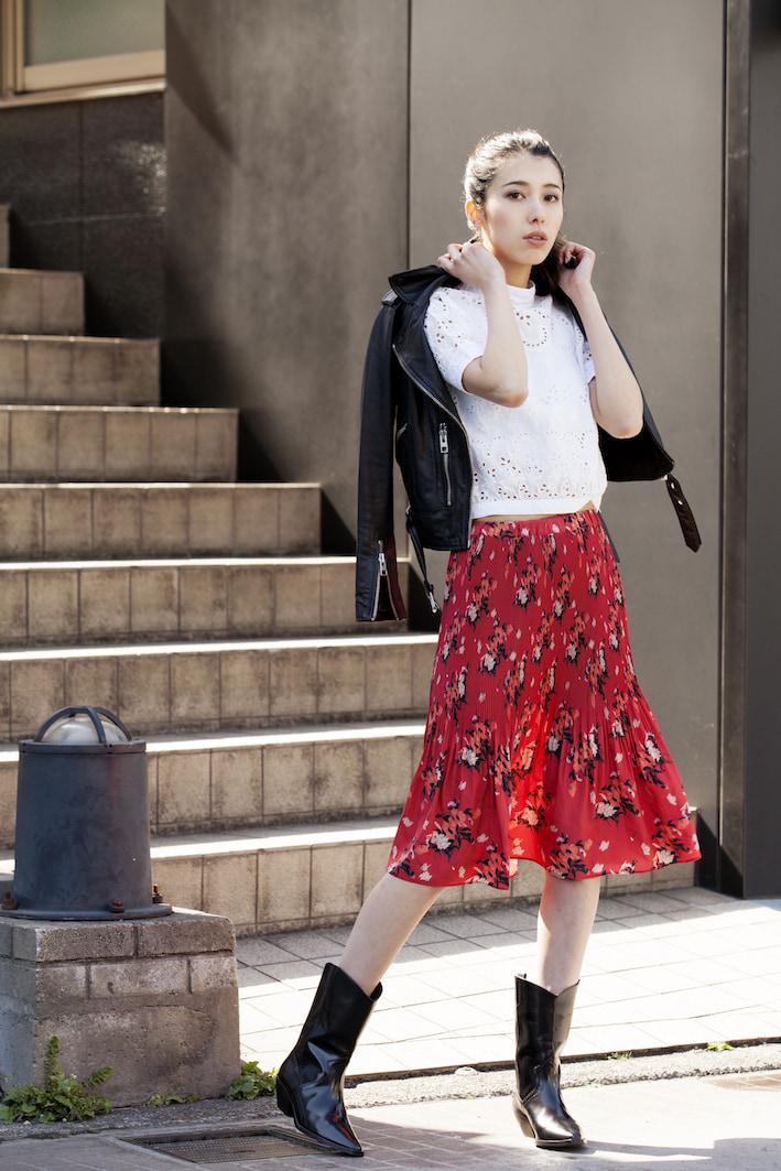 流行のカットレースブラウスをカッコよく着こなそう/Angieさんの7days coordinate ♯Day6