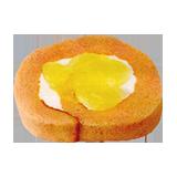 白桃のロールケーキ(白桃ジャム&ヨーグルトホイップ)