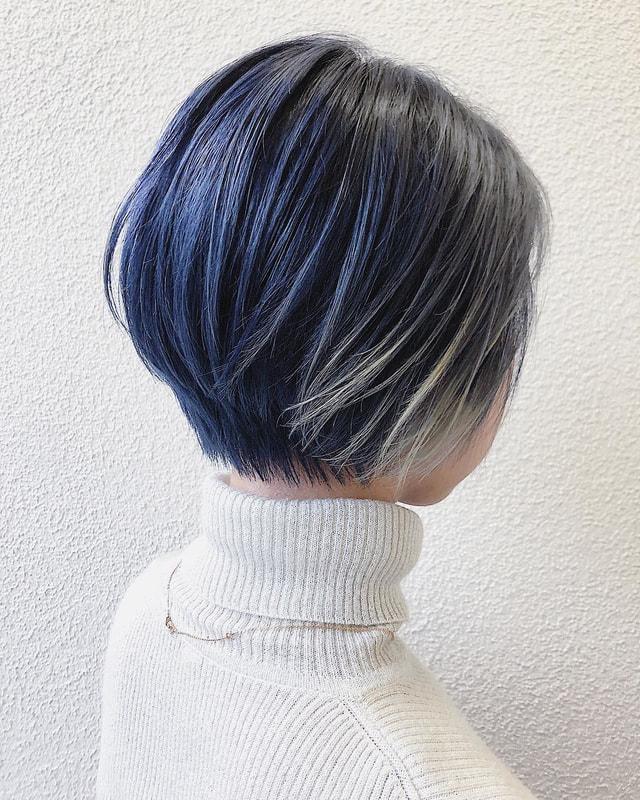 ネイビー ブルー ヘア カラー