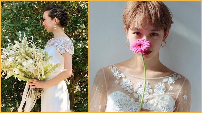 ショートヘアの花嫁さんが急増中 短い髪型だからこそ ドレス 和装