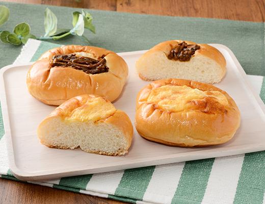焼きそばパンとたまごパン(4個入り)