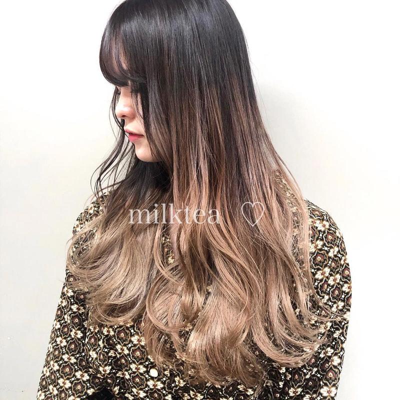 グラデーション カラー 黒髪 ベース