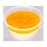 なめらか杏仁豆腐(マンゴーソース)
