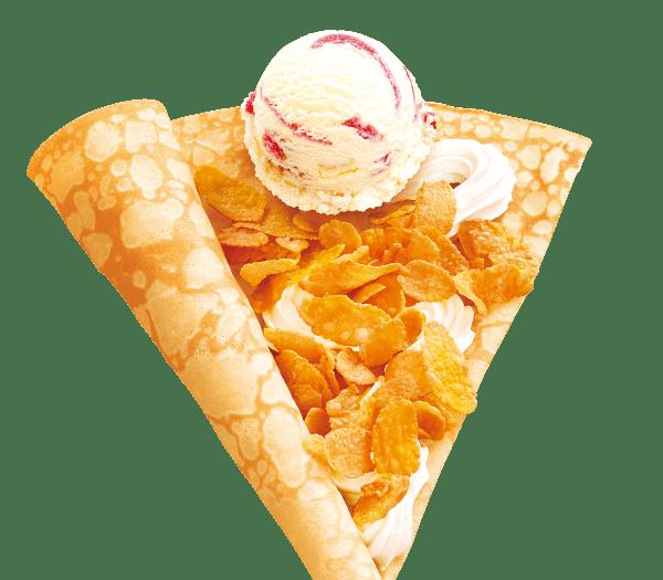 アイスクリームクレープ
