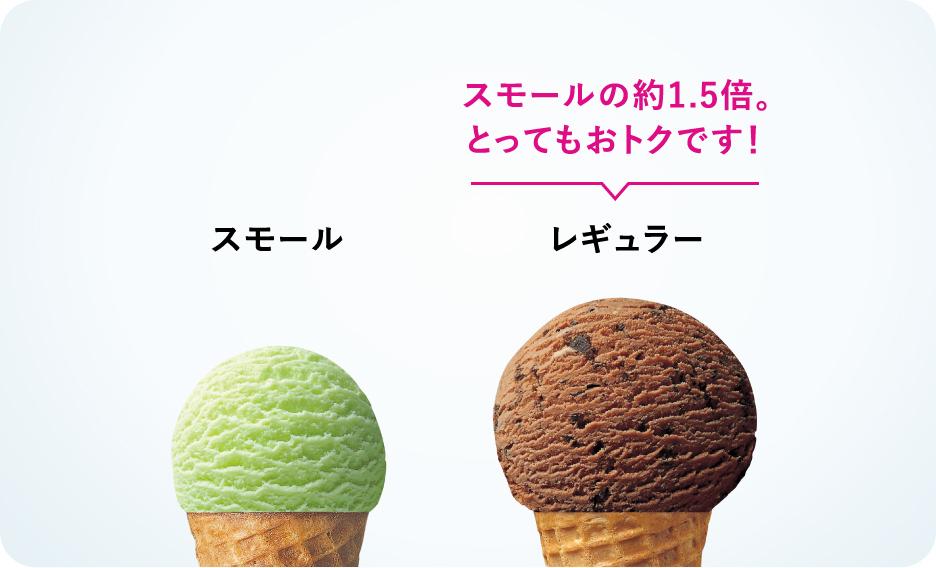 アイスのサイズ