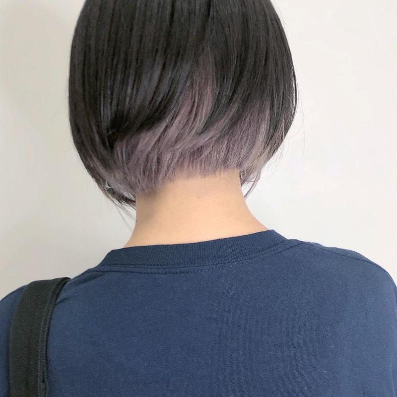 黒髪だからこそ インナーカラーが映える 人気色からヘアアレンジまでご紹介 Mine マイン