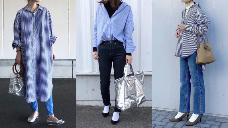 ストライプ シャツ コーデ 「ストライプシャツ」の人気ファッションコーディネート