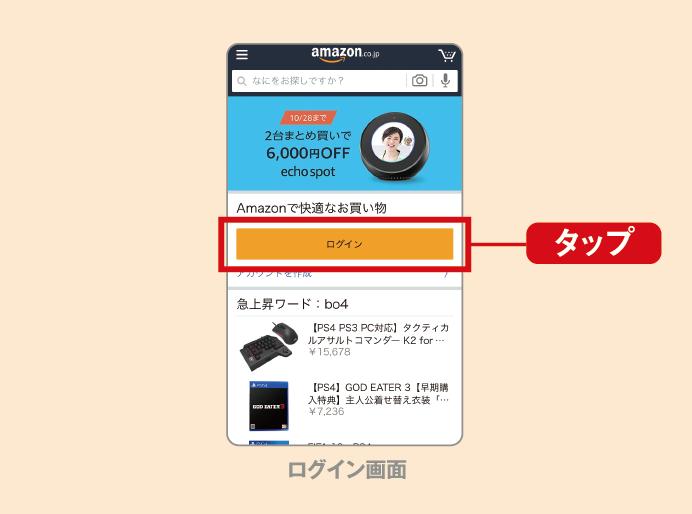 Amazonギフト券の使い方ステップ1
