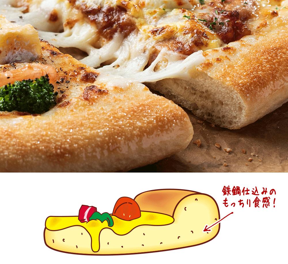 ピザハットの生地「ふっくらパンピザ」