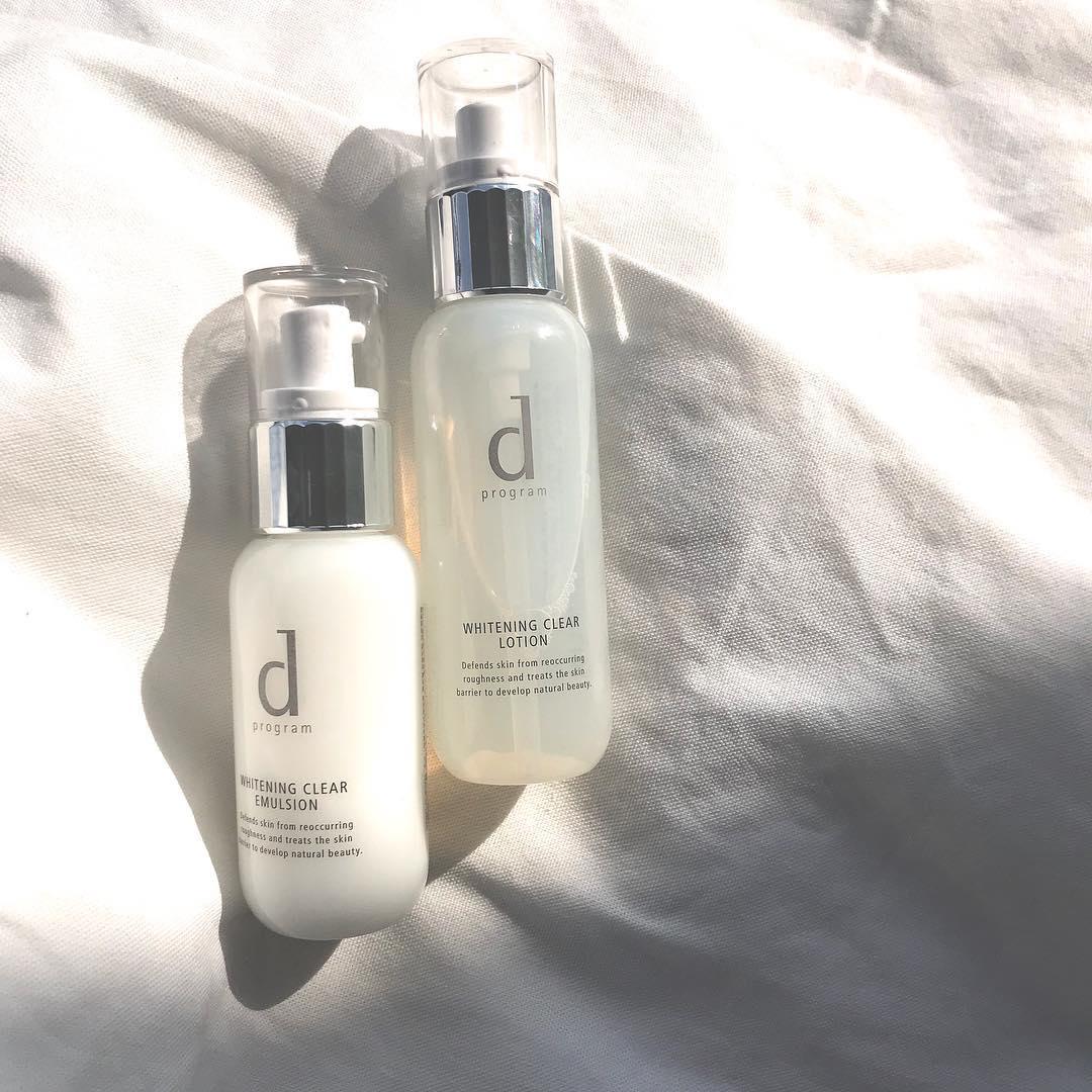 d プログラムの化粧水と乳液