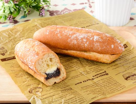 NL もち麦のあんフランスパン発酵バター入りマーガリン使用