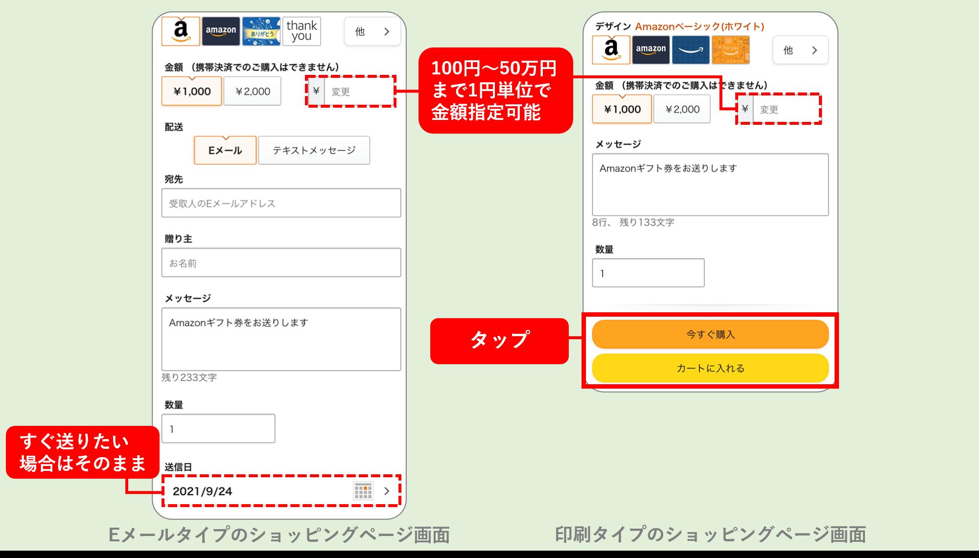 Amazonギフト券デジタルタイプのプレゼント方法ステップ2