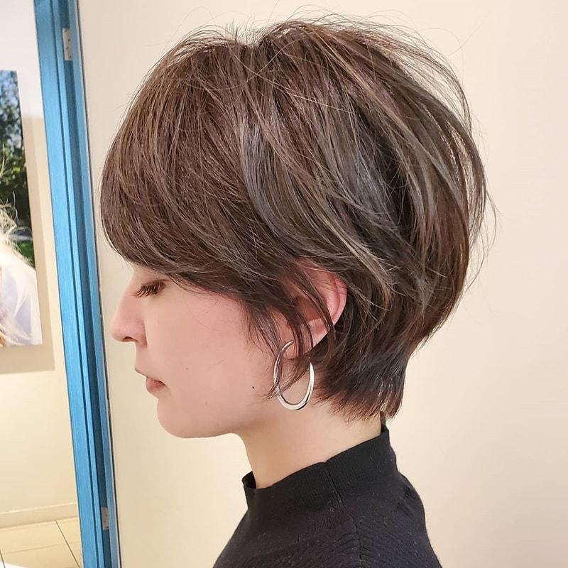 前髪 あり ショート 50 代 髪型