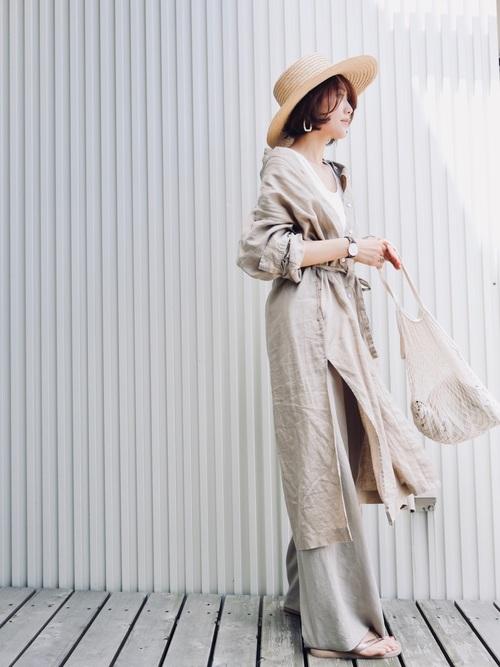 スラウチ・ハット(女優帽)のコーデ画像