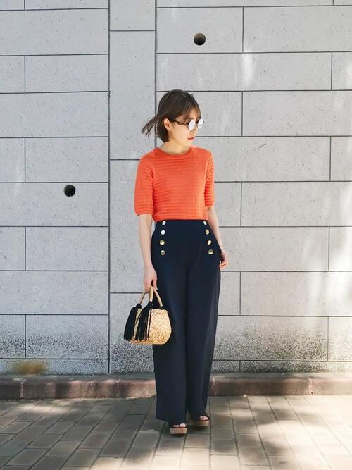 「パリジェンヌ ファッション」ワードローブのマリンパンツの画像