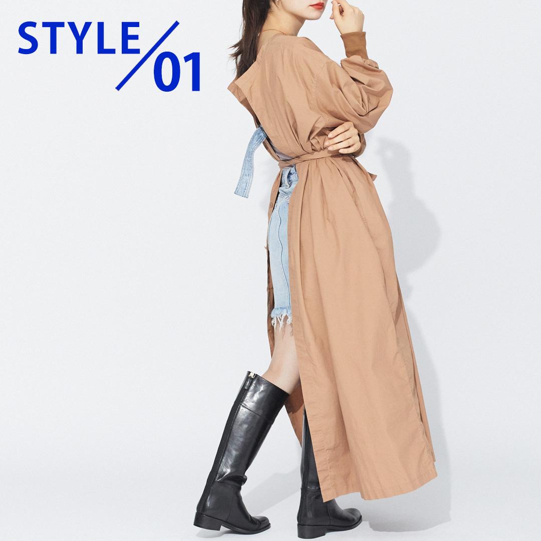 【STYLE 01】ワンピースと合わせる場合の画像