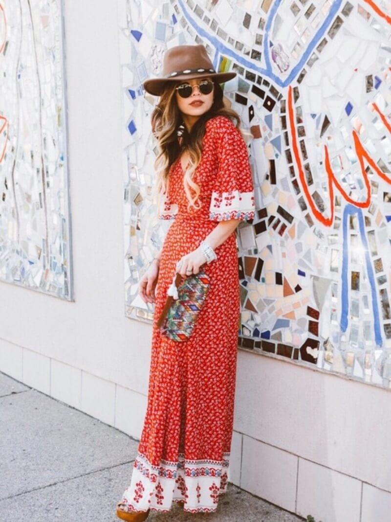 アメリカンなヒッピーファッションのイメージ画像