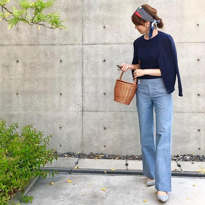 「半袖×カーディガン」気温別の半袖コーデ画像