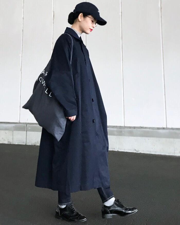 白の靴下×オックスフォードシューズのコーデ画像