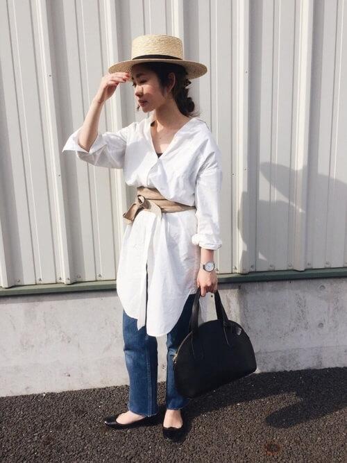 「パリジェンヌ ファッション」ワードローブのデニムパンツの画像