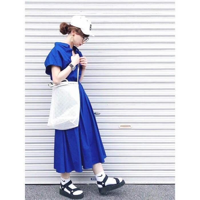 ワンポイント入り白靴下のコーデ画像