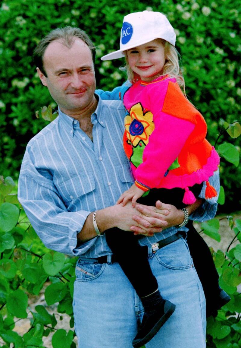 リリー・コリンズの幼少時代の写真