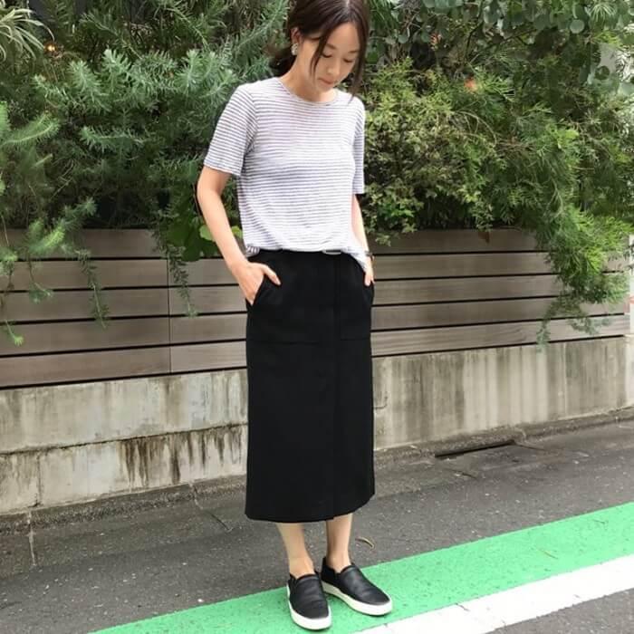 スカートなら「ミモレ丈」の画像