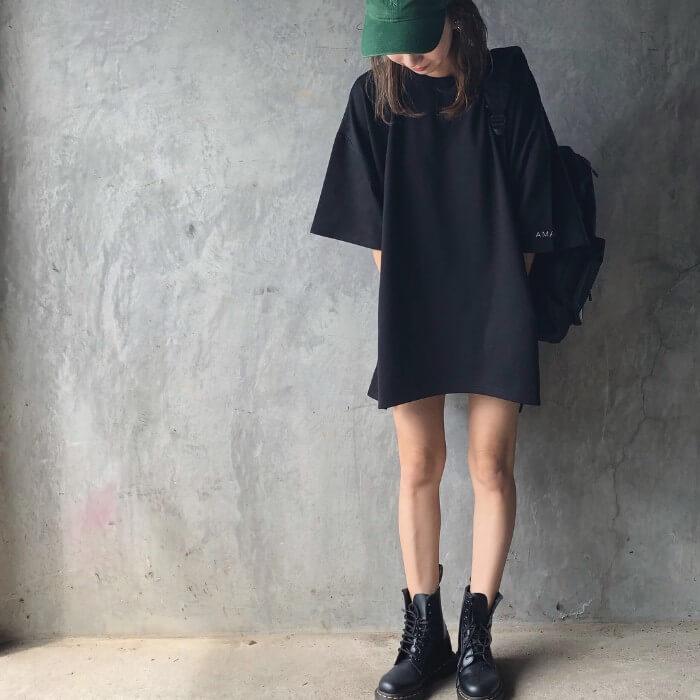 メンズサイズTシャツのコーデ画像