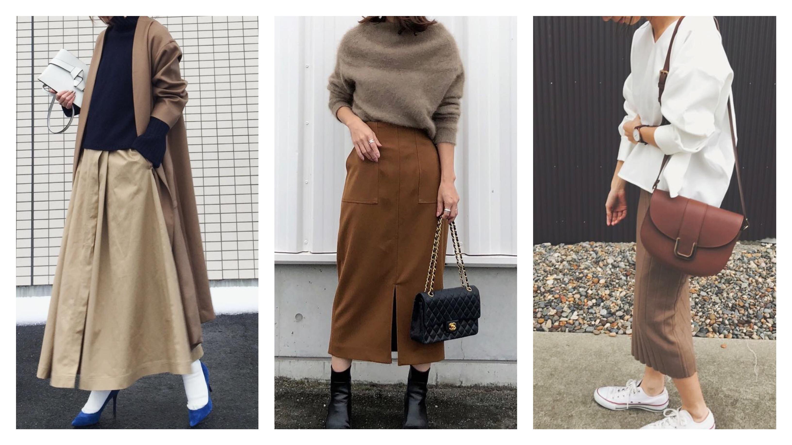 今どき大人女子は【茶色スカート】を選ぶべき!垢ぬけコーデ21選
