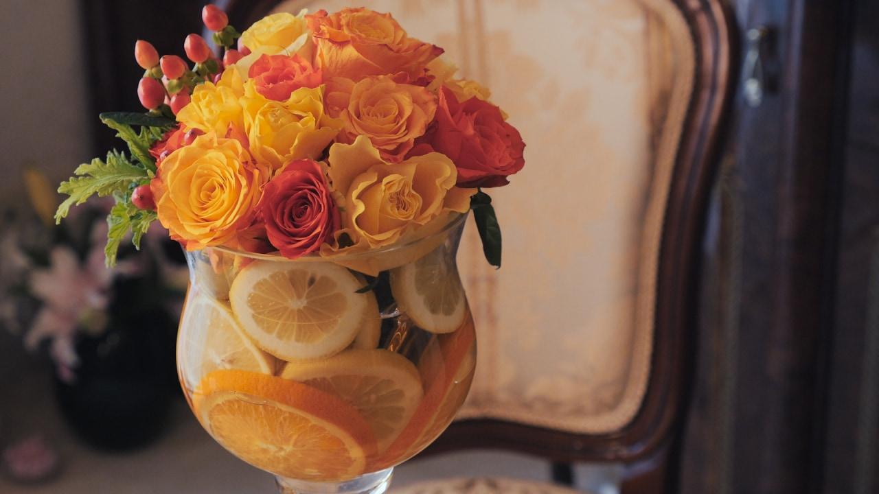 \お部屋を華やかに!/フラワーアレンジVol.2『フルーツパーティー』