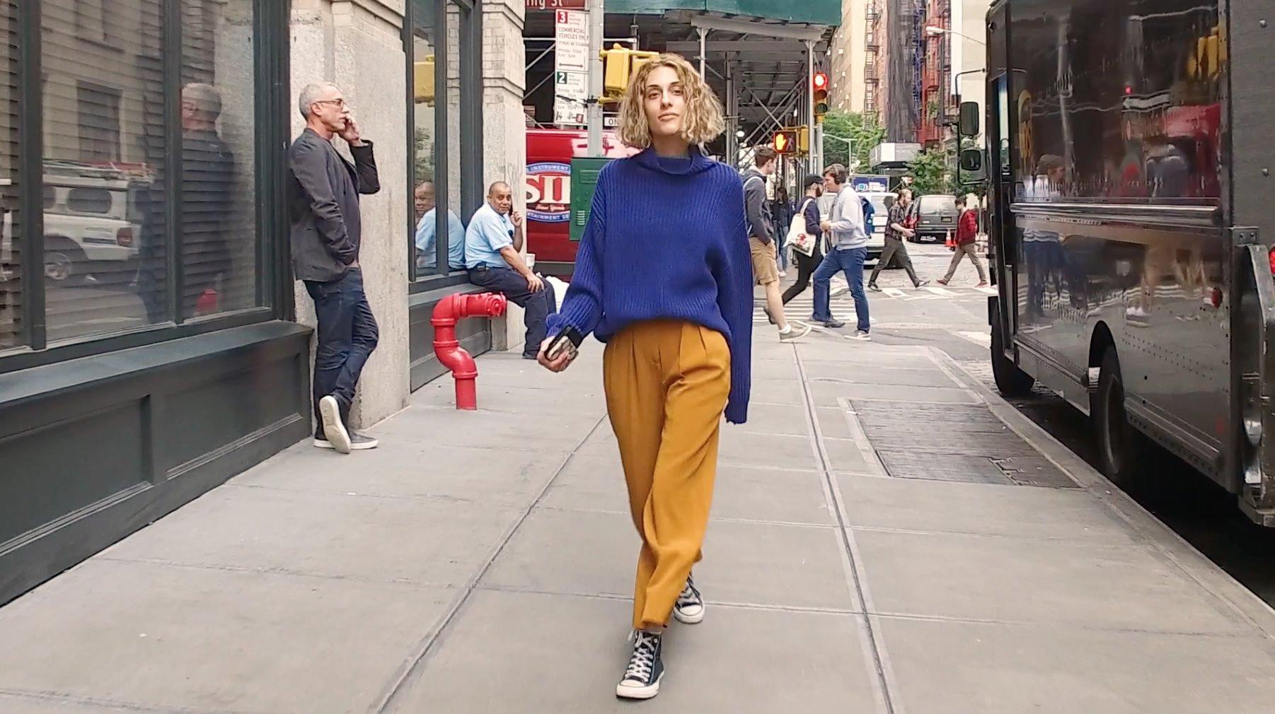 【NY】シンプルスタイルも配色チェンジで見違える!