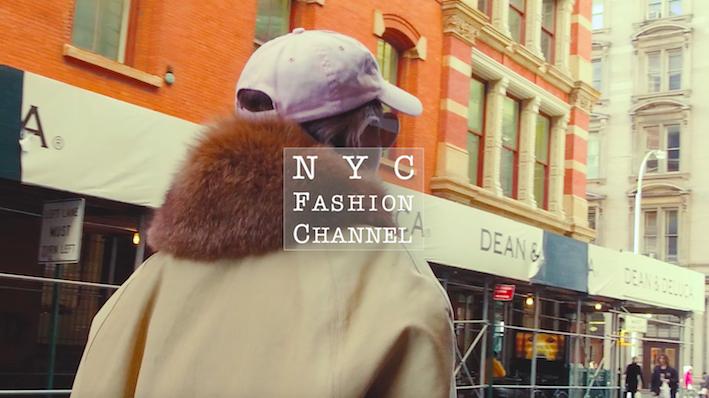 BIGコートをおしゃれに着こなしたファッションデザイナーをキャッチ!