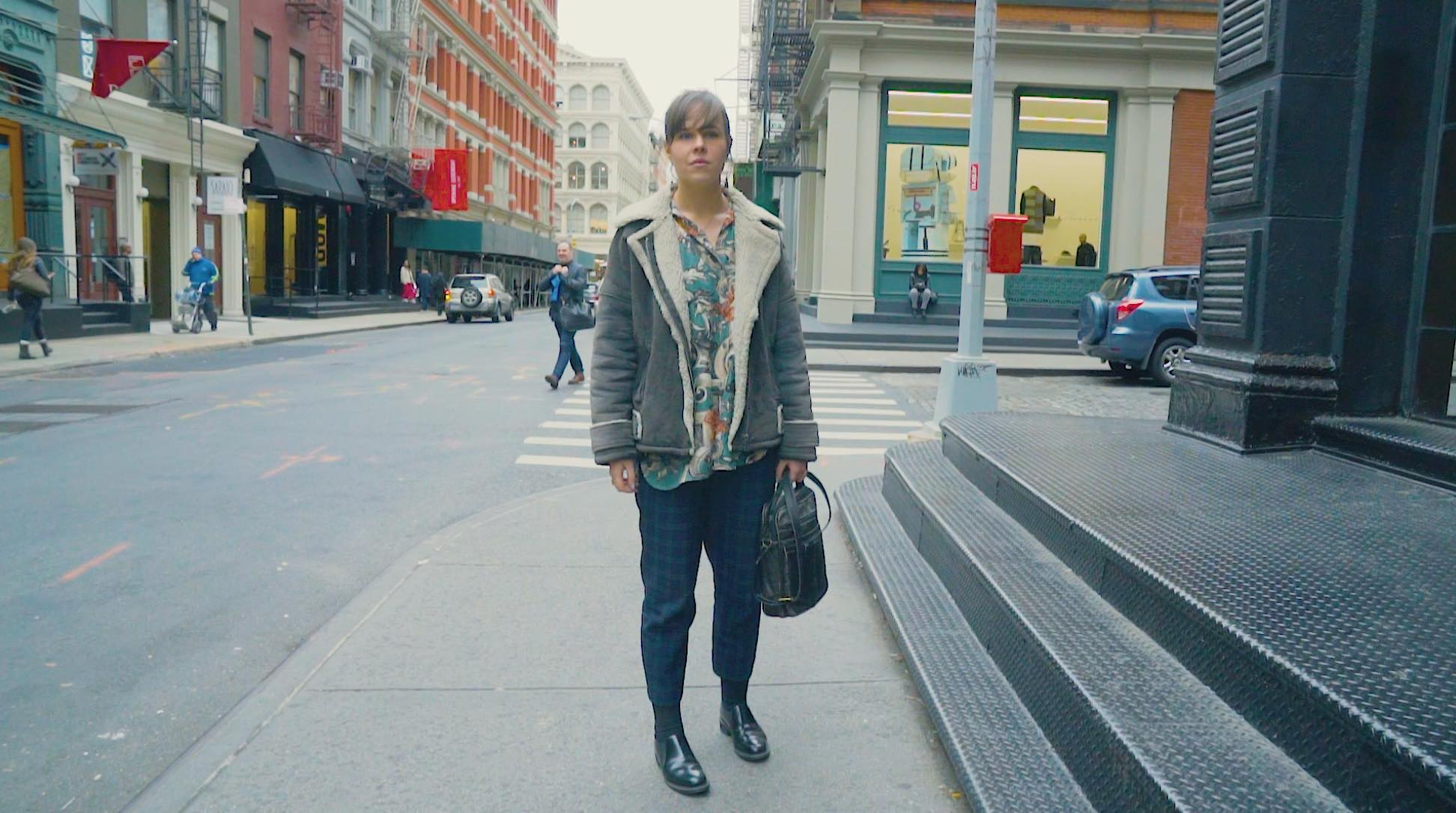 【NY】メリハリカラーでを着こなす柄on柄スタイル