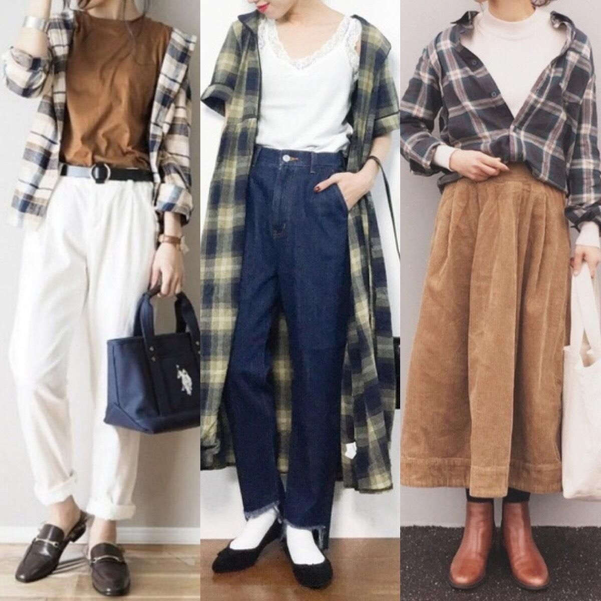 チェックシャツコーデ【18選】