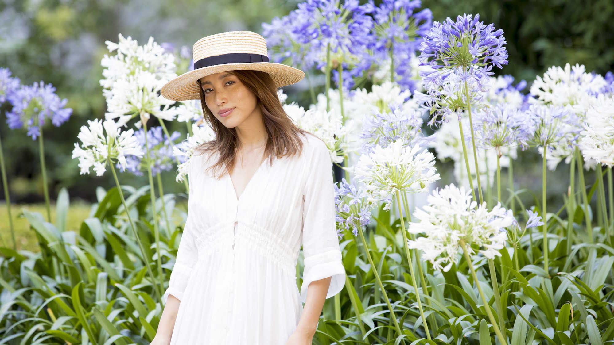 涼しげに夏スタイルを演出するホワイトワンピース/JUNNAさんの7days coordinate #Day3