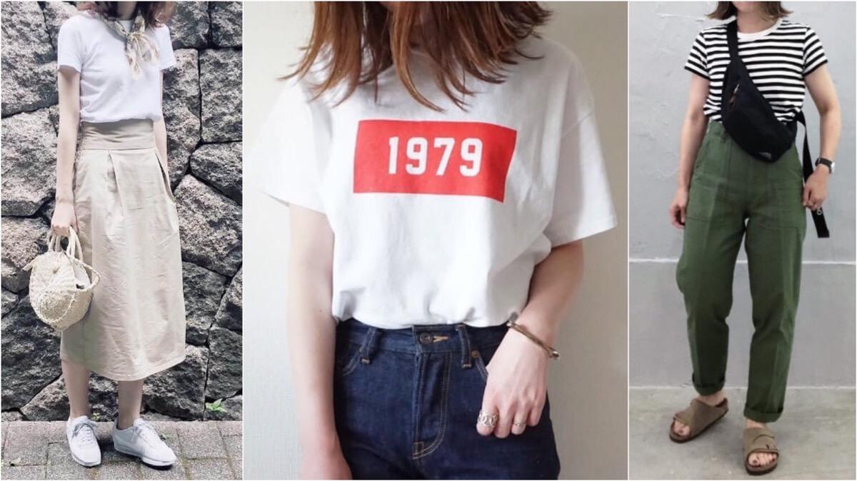 「Tシャツイン」のお手本コーデ【12選】