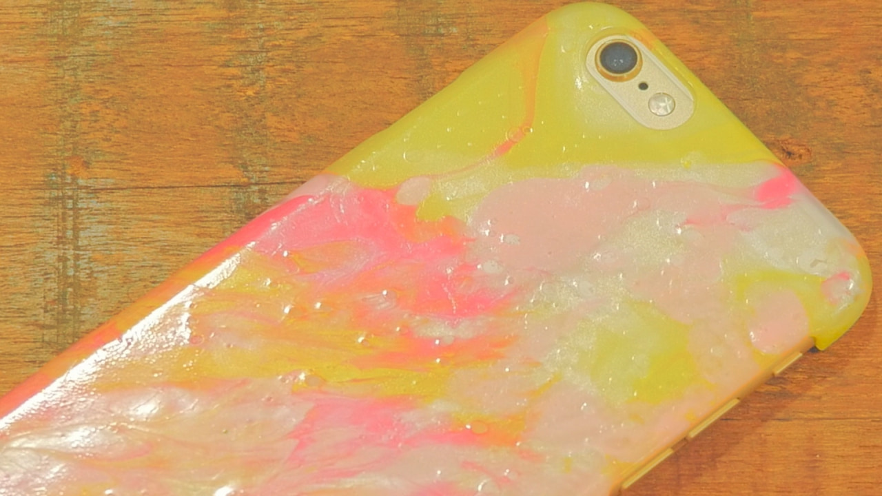 【DIY】世界に一つだけ!マーブル柄で作るオリジナルiPhoneケース