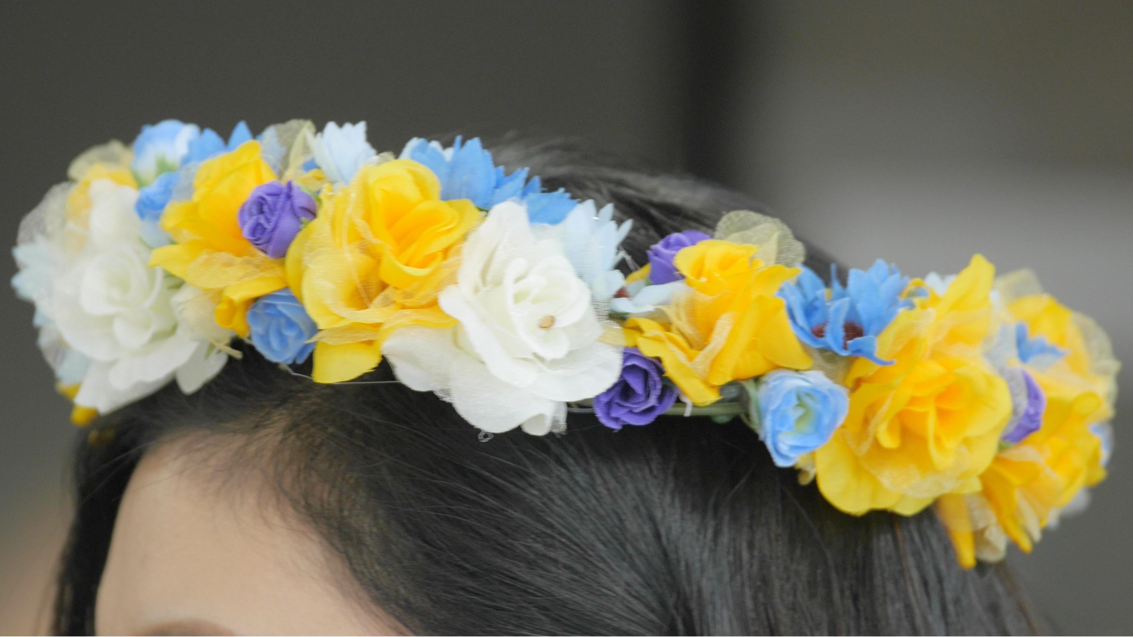 【DIY】フェスの服装に合わせた花冠