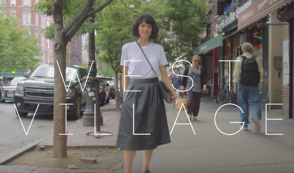 アクセサリデザイナーのおしゃれモノトーンコーデ!@West Village,NY