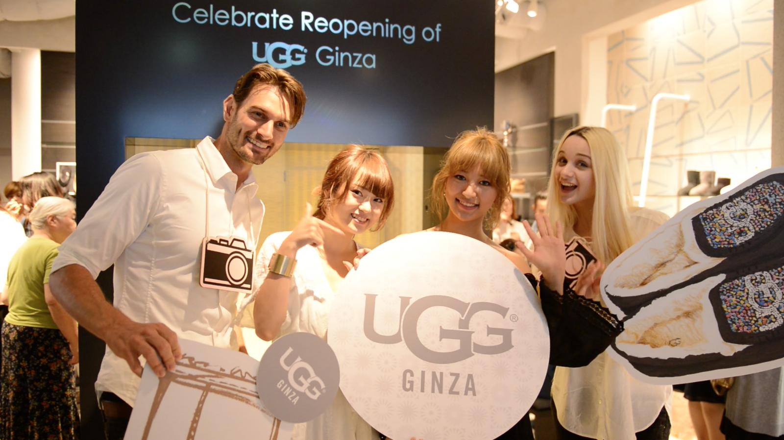 UGG®ファンが銀座に集結!UGG® Ginzaがリニューアルオープンイベントを開催
