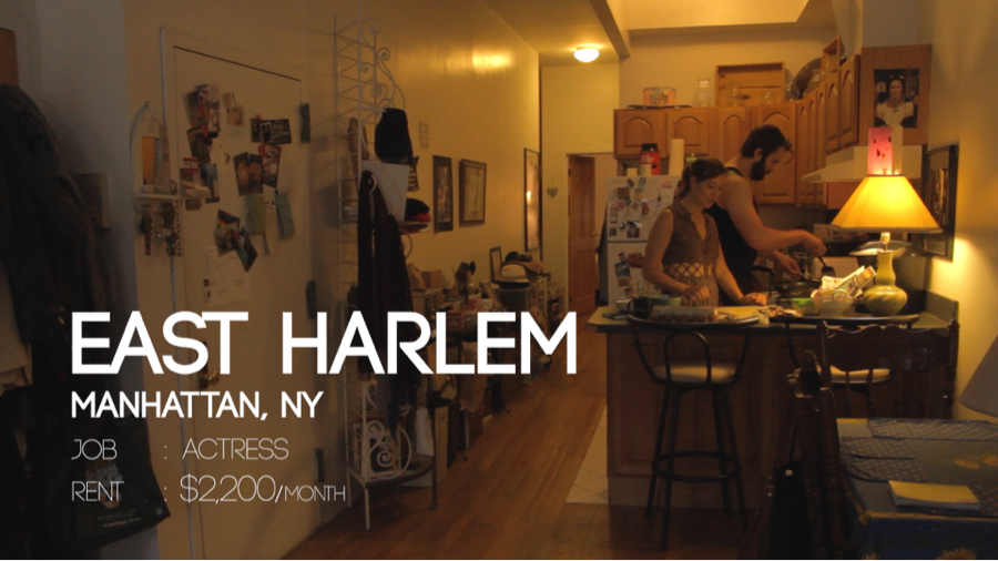 手作りシアター風カーテン!女優さんのオシャレな部屋!@Manhattan,NY