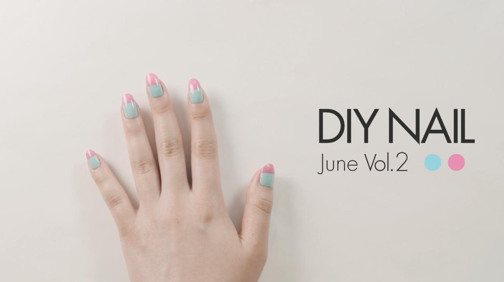 【DIYネイル vol.5】スプレー式ネイルでつくる、ポップなカラーブロックネイル