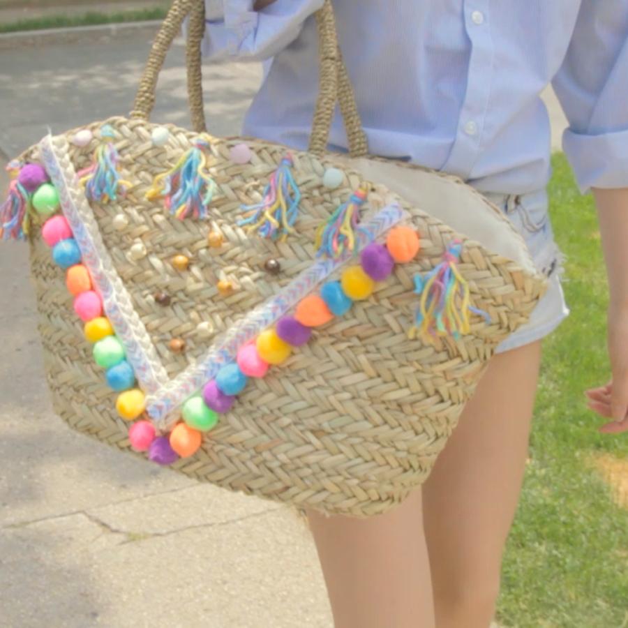 【DIY】世界に一つだけ!自分だけのキュートなかごバッグ