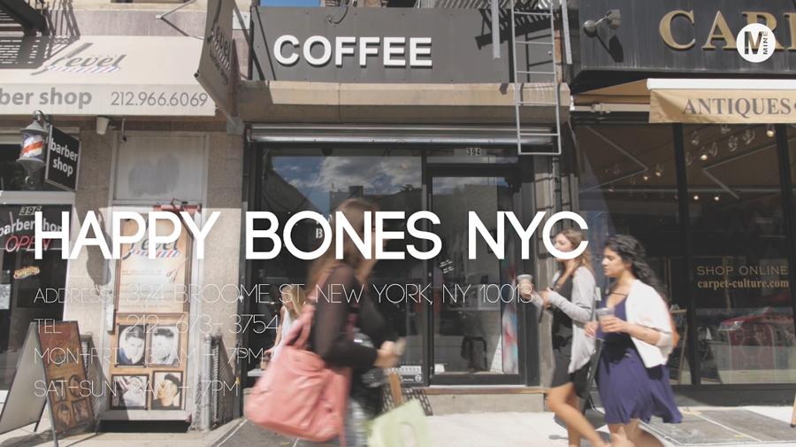 """オシャレなニューヨーカーの隠れカフェ""""HAPPYBONES"""""""