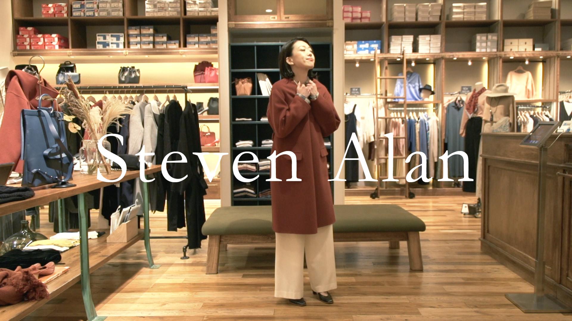 チェックシャツを暖色コートで包む、大人のカジュアルコーデ【Steven Alan】(スティーブン アラン)#2