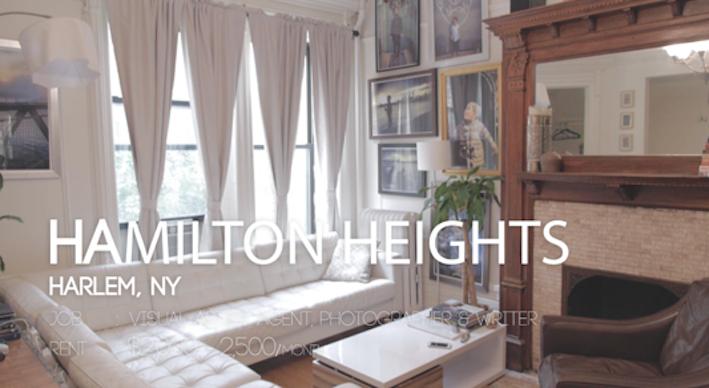 アートが壁を彩るおシャレインテリア@Hamilton Heights【NY生活】