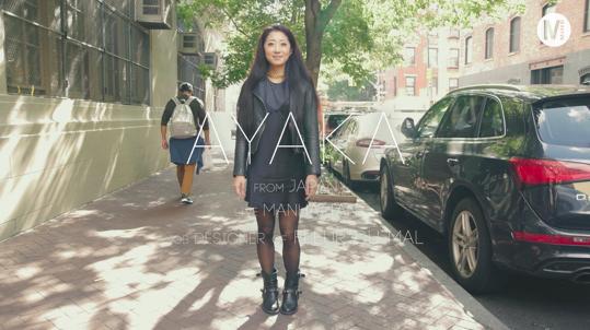 スリップドレスを重ね着したロック風ランジェリーMIXスタイル!In New York